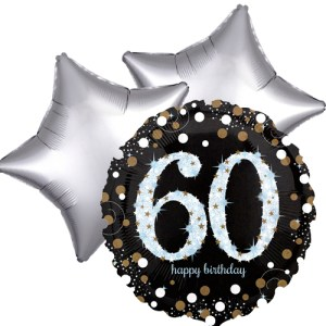 Ballonboeket 60ste verjaardag bestellen of bezorgen online