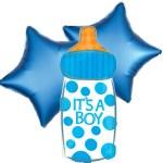 Ballonboeket baby drinkfles boy bestellen of bezorgen online