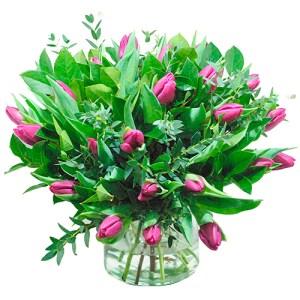 Boeket paarse tulpen (NIET LEVERBAAR IN VERBAND MET SEIZOEN) bestellen of bezorgen online