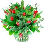 Boeket rode tulpen (NIET LEVERBAAR IN VERBAND MET SEIZOEN) bestellen of bezorgen online