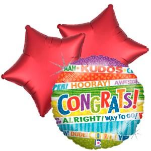Ballonboeket lots o'congrats bestellen of bezorgen online