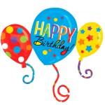 Happy Birthday cluster ballon bestellen of bezorgen online