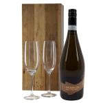 Prosecco wit met 2 champagne glazen bestellen of bezorgen