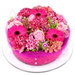 Roze herfst bloementaart bezorgen bestellen of bezorgen