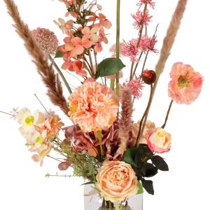 Zijdebloemen plukboeket roze - zalm bezorgen bestellen of bezorgen