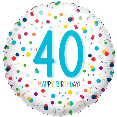 40ste verjaardag ballon confetti bestellen of bezorgen online