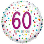 60ste verjaardag ballon confetti bestellen of bezorgen online