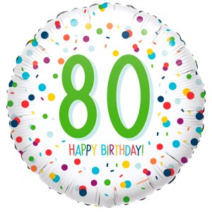 80ste verjaardag ballon confetti bestellen of bezorgen online