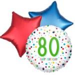 Ballonboeket confetti 80ste verjaardag bestellen of bezorgen online
