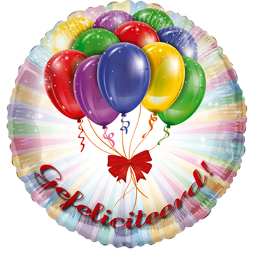 Gefeliciteerd! ballon bestellen of bezorgen online