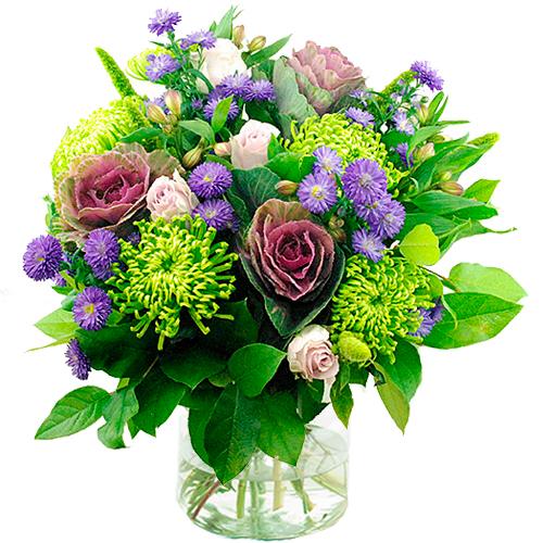 Najaarsboeket in lila tinten bestellen of bezorgen online