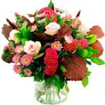 Najaarsboeket in roze-bordeaux tinten bestellen of bezorgen online
