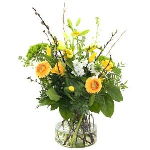 Voorjaarsboeket Geel/wit bestellen of bezorgen online