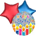 Ballonboeket Birthday Candles bestellen of bezorgen online