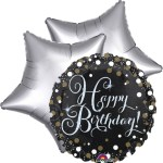 Ballonboeket happy birthday black bestellen of bezorgen online