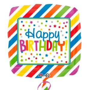 Happy Birthday square stripes bestellen of bezorgen online