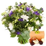 Freesia bloemen en bonbons bestellen of bezorgen