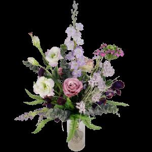 Zijdebloemen veldboeket blauw paars lila bestellen of bezorgen