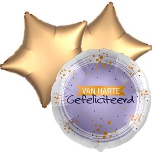 Ballonboeket van harte gefeliciteerd bestellen of bezorgen online
