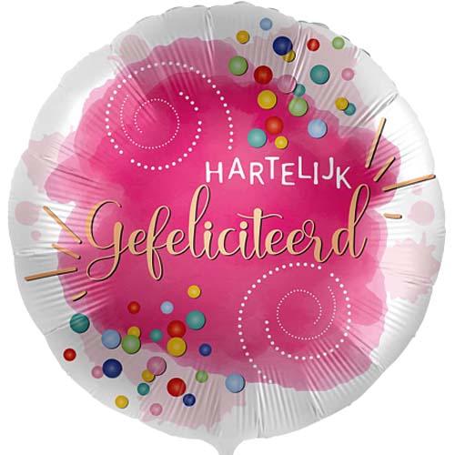 Hartelijk gefeliciteerd confetti bestellen of bezorgen online
