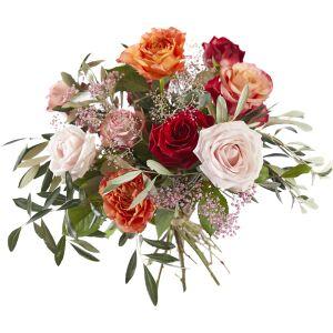 Liefdevolle rozen boeket
