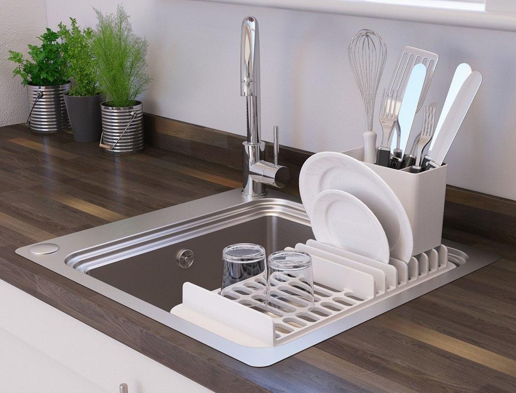 revamping the kitchen sink rack 123