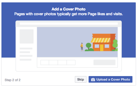 how to add a cover photo to your Facebook page