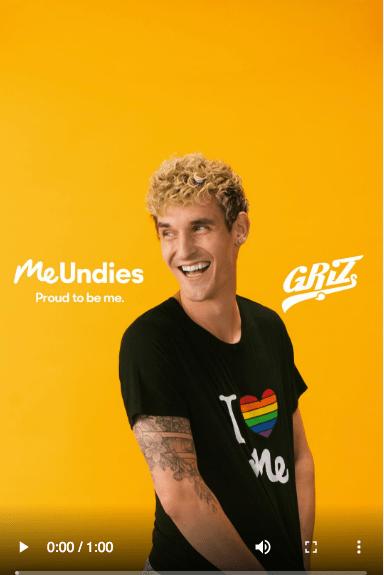 Me Undies Instagram Stories ad