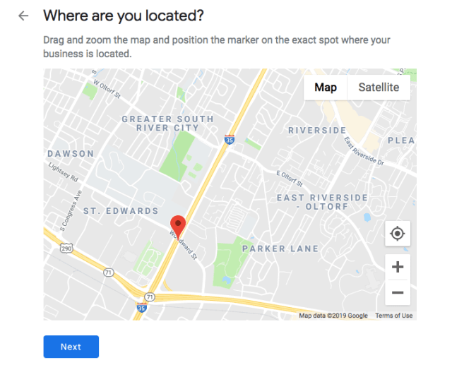 Adding an exact location to a Google My Business profile