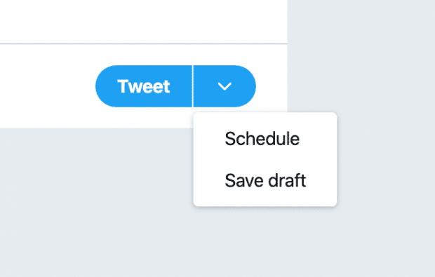 schedule option on