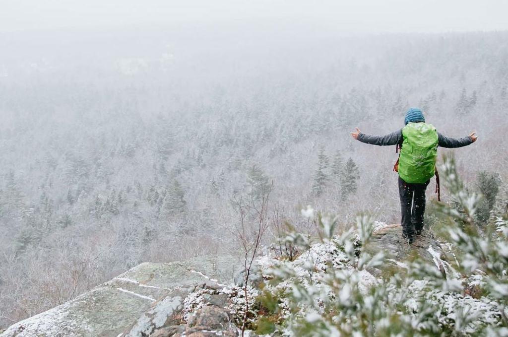 acadia national park winter camping