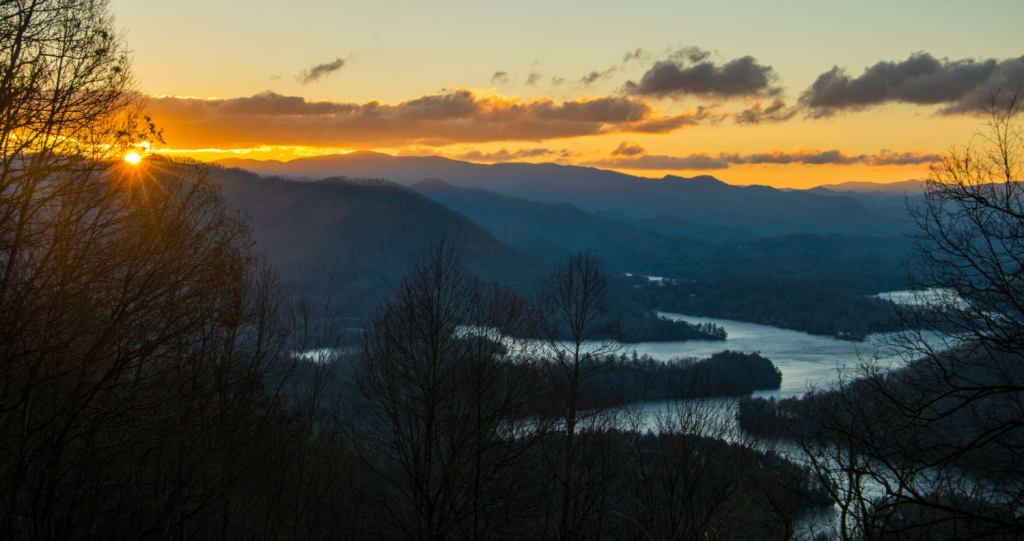 If you try camping in the Blue Ridge Mountains, this view could be yours too!