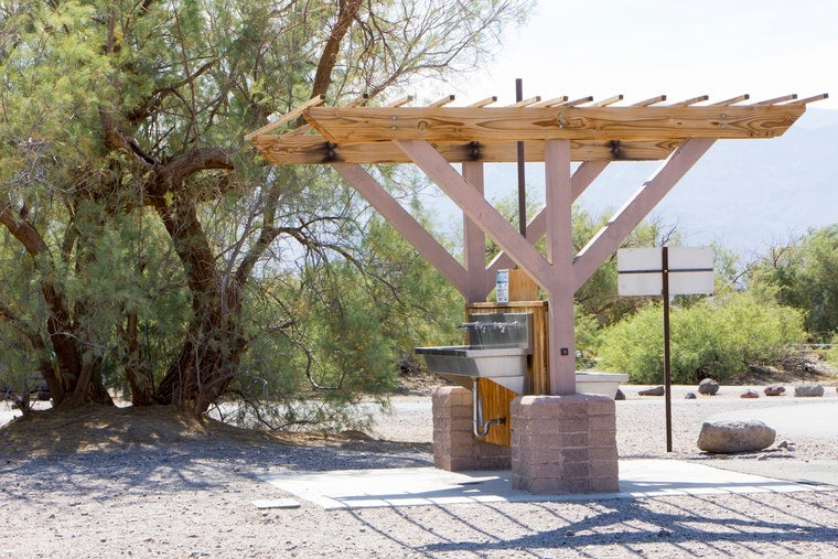 safe camping in death valley
