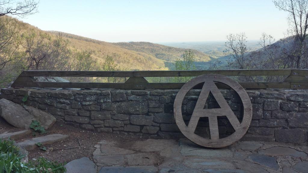 appalachian trail neels gap overlook