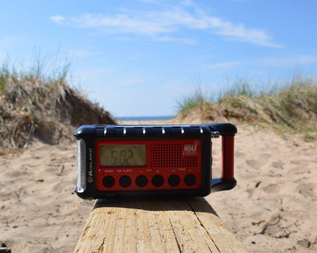 weather radio camping gadget