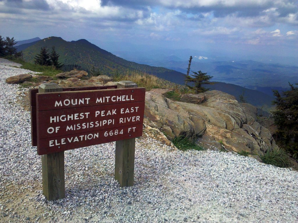 mountains-to-sea trail at mount mitchell peak