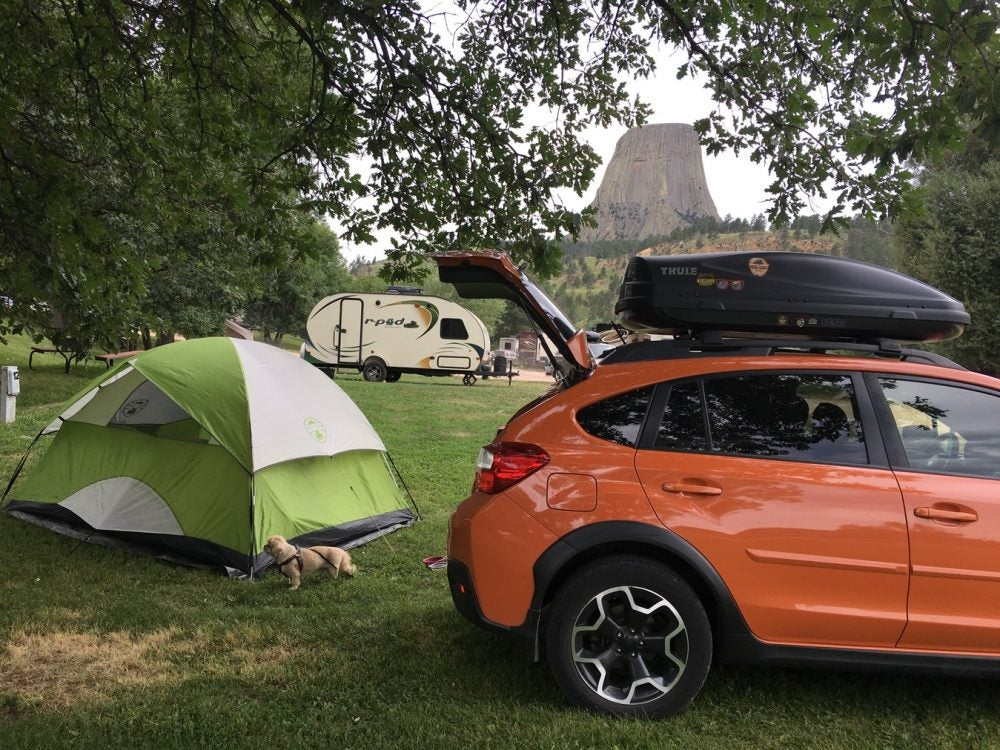 devils tower camping options