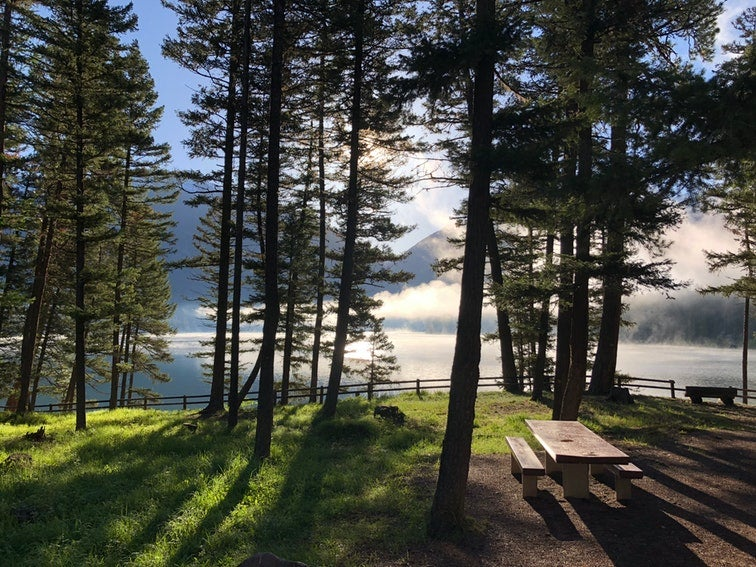 holland lake campgrounds in montana