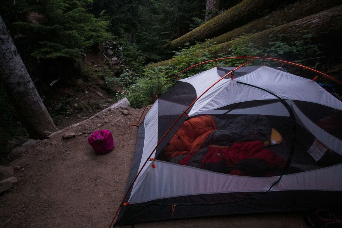 Carbon River Campground - Hiking the Wonderland Trail, Mount Rainier National Park