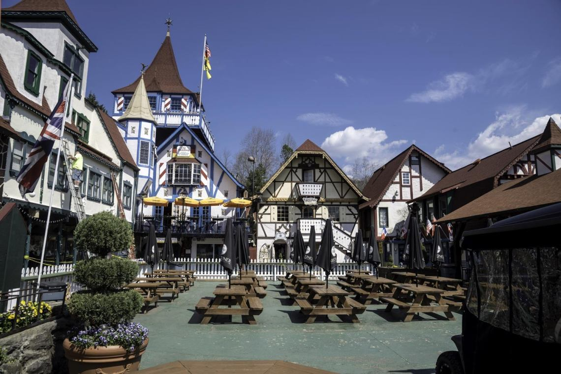 photo of a bavarian style town in helen, georgia
