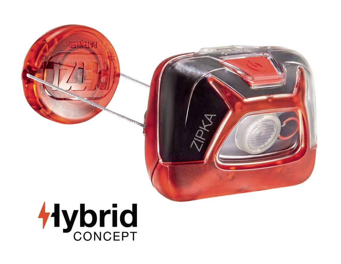 zipka hybrid headlamp in red