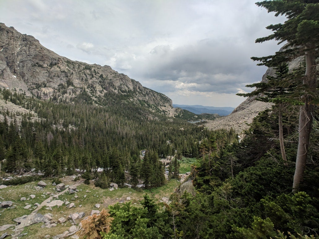 a gorge overlook from a hike in Rocky Mountain National Park