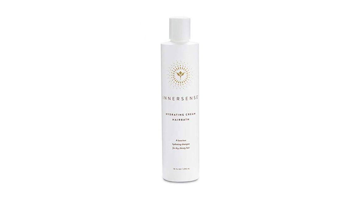 White bottle of Innersense Shampoo