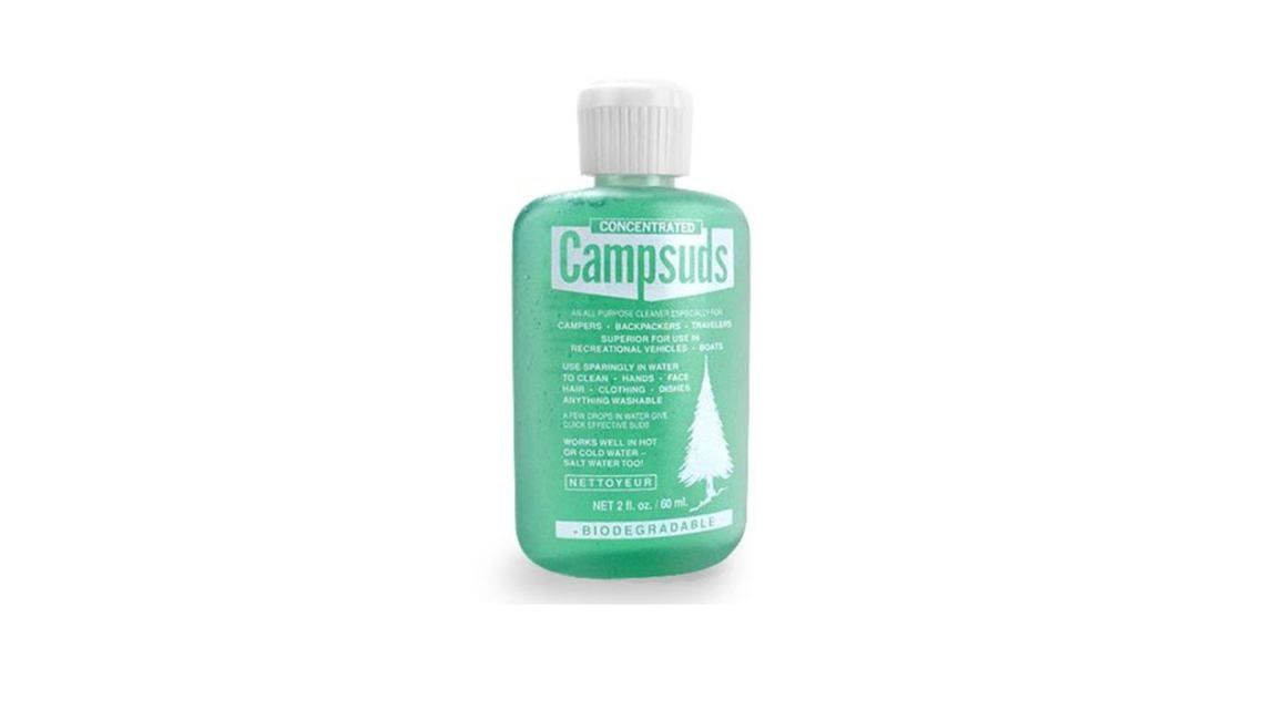 Bottle of camp suds.
