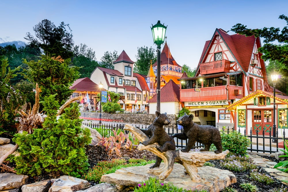 Panoramic view of Bavarian-style homes