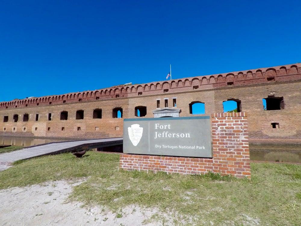Fort Jefferson historical monument in Key West civil war.