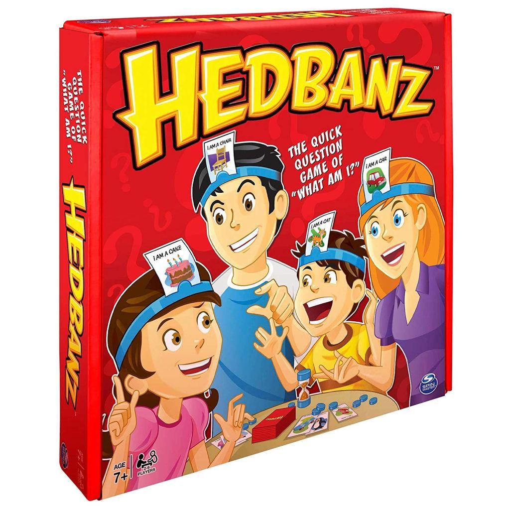 a board game cover for Headbanz