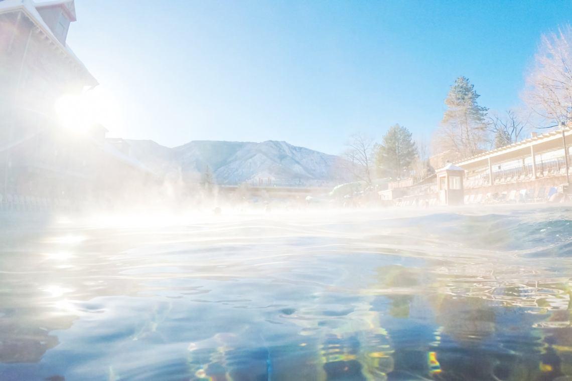 steamy glenwood hot springs