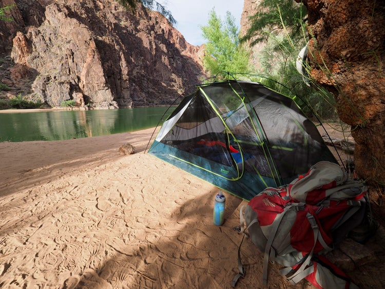 grand canyon granite rapids campsite