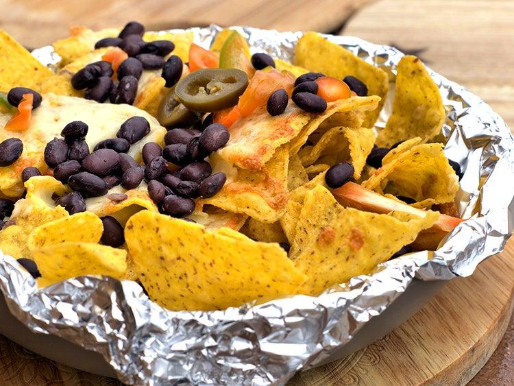 campfire foil nachos packet